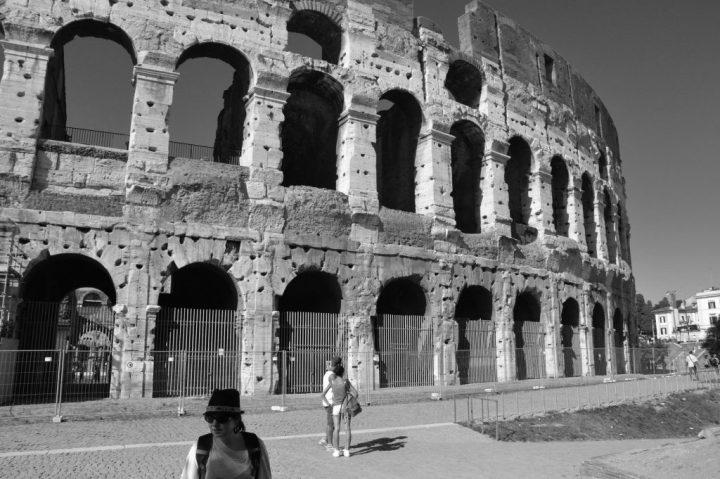 rome 2014 colisee bw