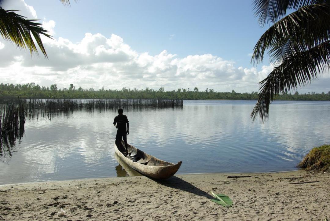 pêcheur sur l'île de Madagascar