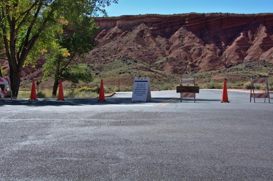parcs de l'ouest américain fermés