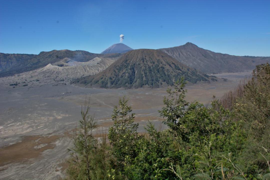 un super volcan à java en indonésie