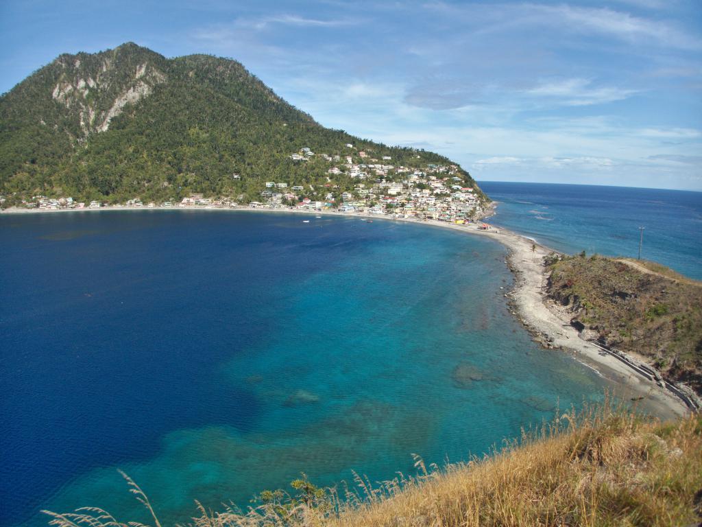 sur l'ile de la dominique dans les caraibes