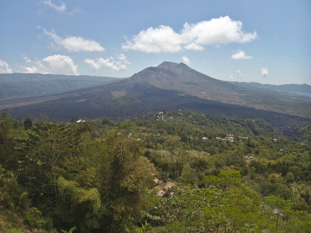 paysage indonésien dans les environs d'ubud