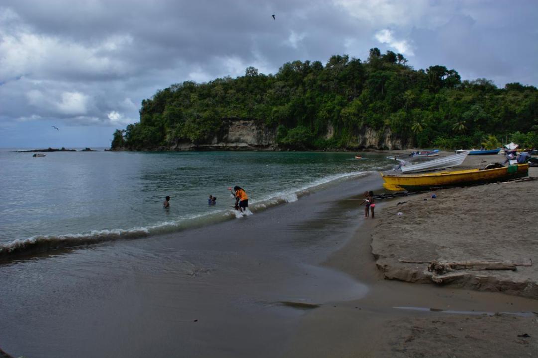 une plage du sud sauvage de sainte lucie dans les caraibes