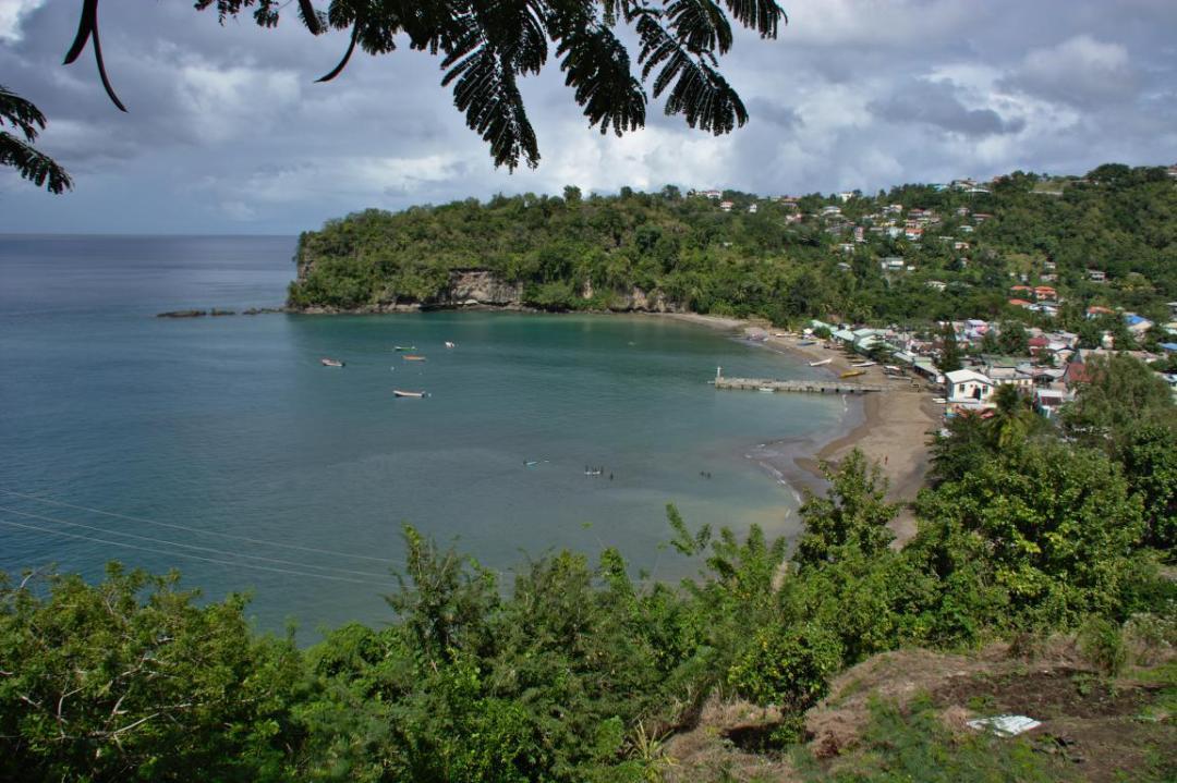 village à sainte lucie dans les caraibes