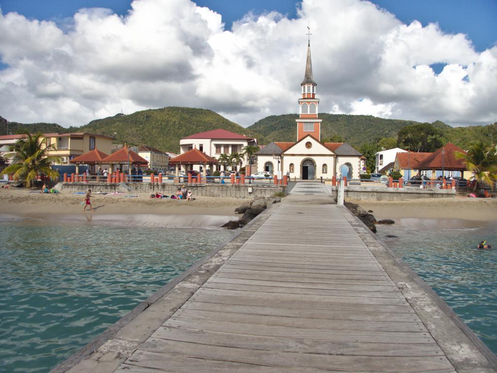 village des anses d'arlet en Martinique dans les Caraïbes