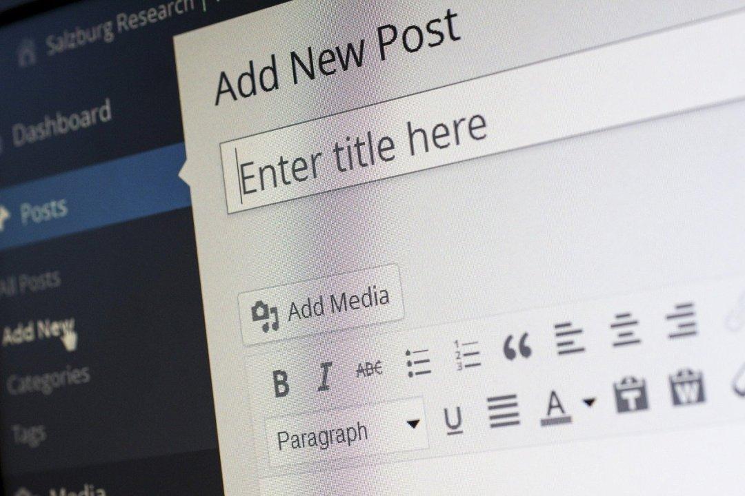 créer un blog sous wordpress