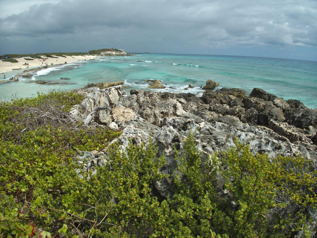 ile cozumel au large de la péninsule du yucatan