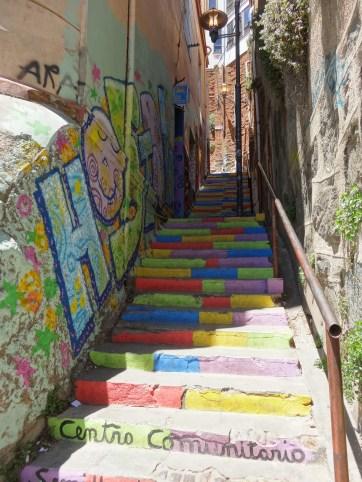 Escaleras en Valparaíso