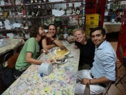 Con Sebastián y Aga en J Cruz