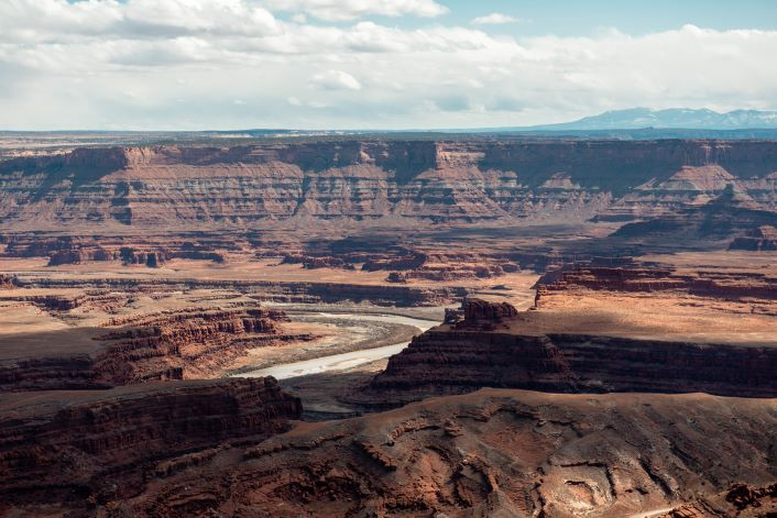 Colorado river winding through canyon near Dead Horse Point State Park