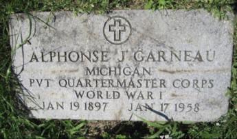 Alphonse J. Garneau, WWI. Courtesy of Shelly Garno.