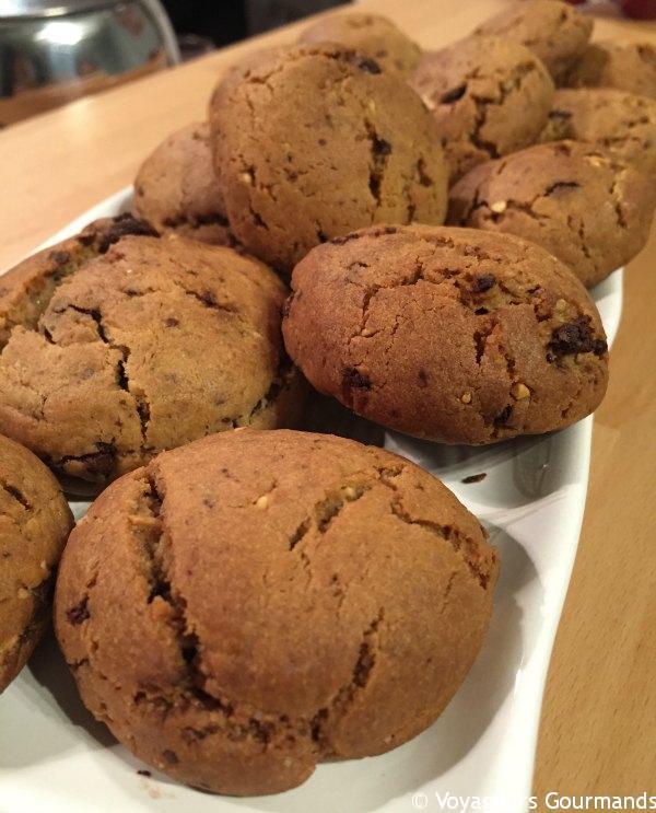 cookies chocolat beurre de cacahuète