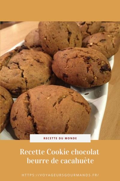 Recette Cookie chocolat beurre de cacahuète