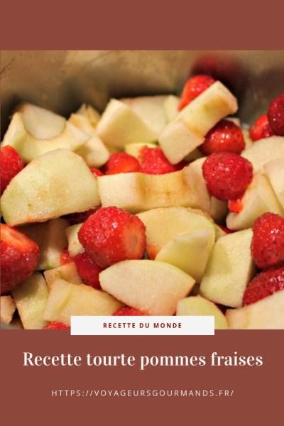 Recette tourte pommes fraises