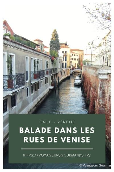 balade dans les rues de Venise