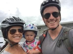 Voyaging Stars Family, Bike hike with baby, February 2016, Hauraki Rail Trail, Thames Paeroa Waihi, New Zealand