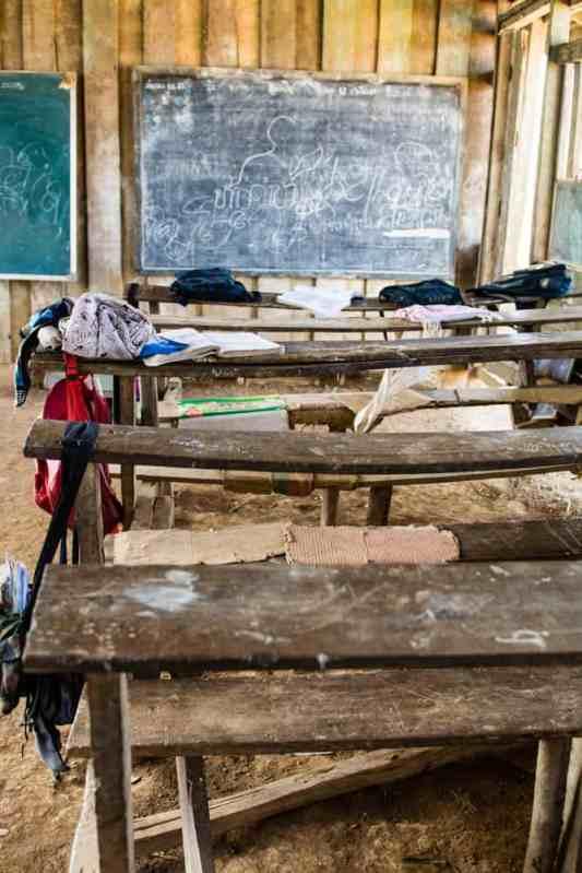 école akha du nord du laos