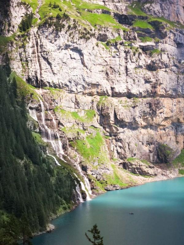 le lac d'Oeschninensee randonnée en Suisse