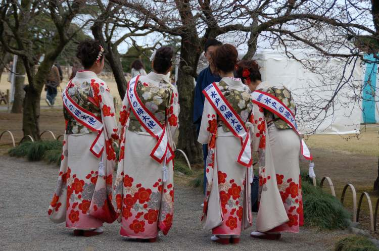 Les miss Japon en action