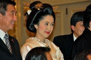 Le jour d'un mariage japonais