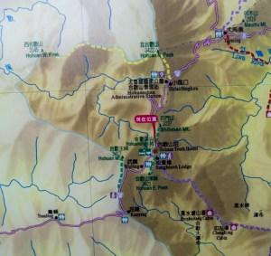 taiwan carte randonnée hehuanshan