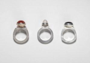 Silberringe mit Stein