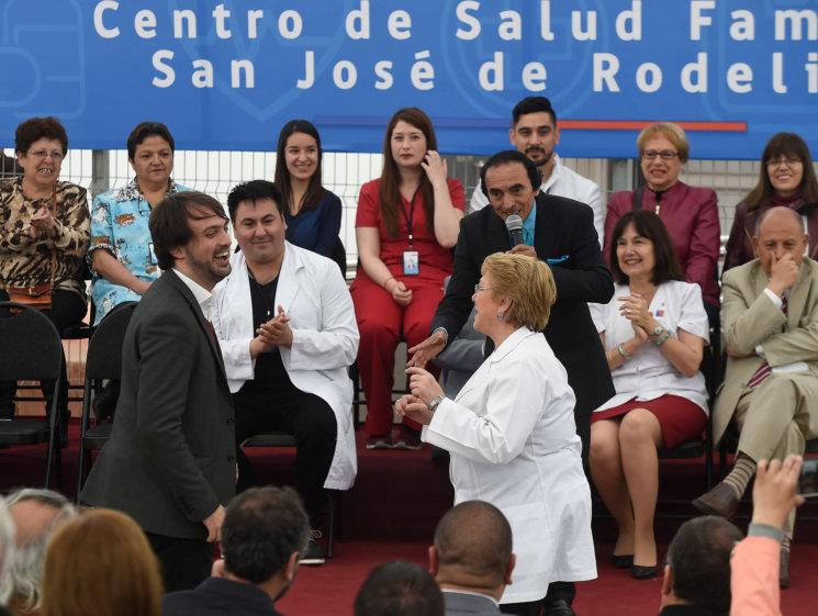 Con baile incluido, Bachelet inaugura nuevo Cesfam en #Rodelillo