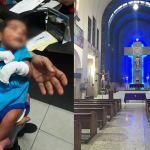 Abandonan a bebé en una iglesia, tenía entre tres y cinco días de nacido
