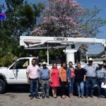 Adquiere Marina Ponce grúa hidráulica para Servicios Municipales en Landa de Matamoros