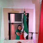 Alcaldesa Marina Ponce vitorea a los héroes patrios en Landa de Matamoros, de manera virtual y con Sana Distancia