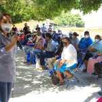 Recorre comunidades pinalenses Lupita Ramírez, propone abastecimiento de agua e internet