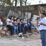 Miguel Martínez se reúne con la comunidad de pueblo nuevo en Cadereyta