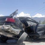 fuerte accidente, casi le cuesta la vida en Saltillo