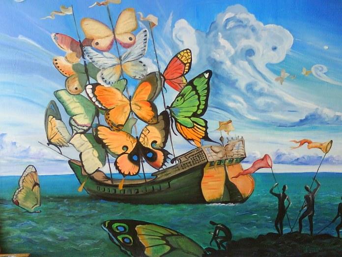 El barco de mariposas