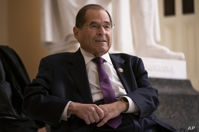 House Judiciary Committee Chairman Jerrold Nadler, a Democrat, prepares for a television interview at the Capitol in Washington, July 26, 2019.