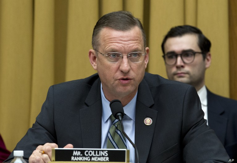 House Judiciary Committee Ranking Member Rep. Doug Collins, R-Ga., speaks during a House Judiciary Committee debate to subpoena Acting Attorney General Matthew Whitaker, on Capitol Hill in Washington, Feb. 7, 2019.