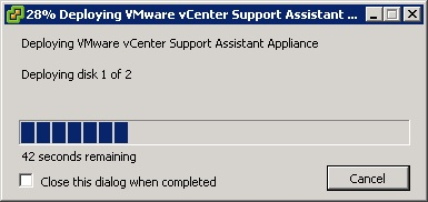 vcenter support assistant 5.5 - 14