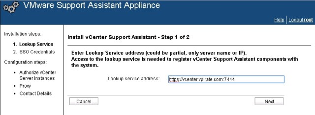 vcenter support assistant 5.5 - 18