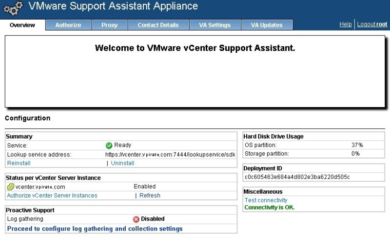 vcenter support assistant 5.5 - 24