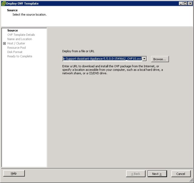 vcenter support assistant 5.5 - 3