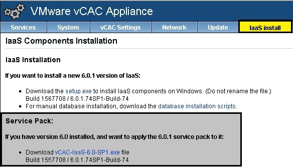 vCAC update 11