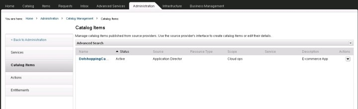 Application Director Intergration with vCAC 6.0 - Part 9 - 11
