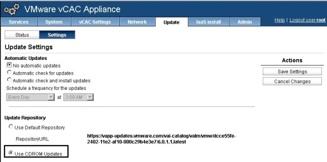 vCAC 6.0.1 to 6.1 upgrade 04