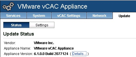 vCAC 6.0.1 to 6.1 upgrade 09