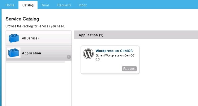 Deploy wordpress on vCAC - 1