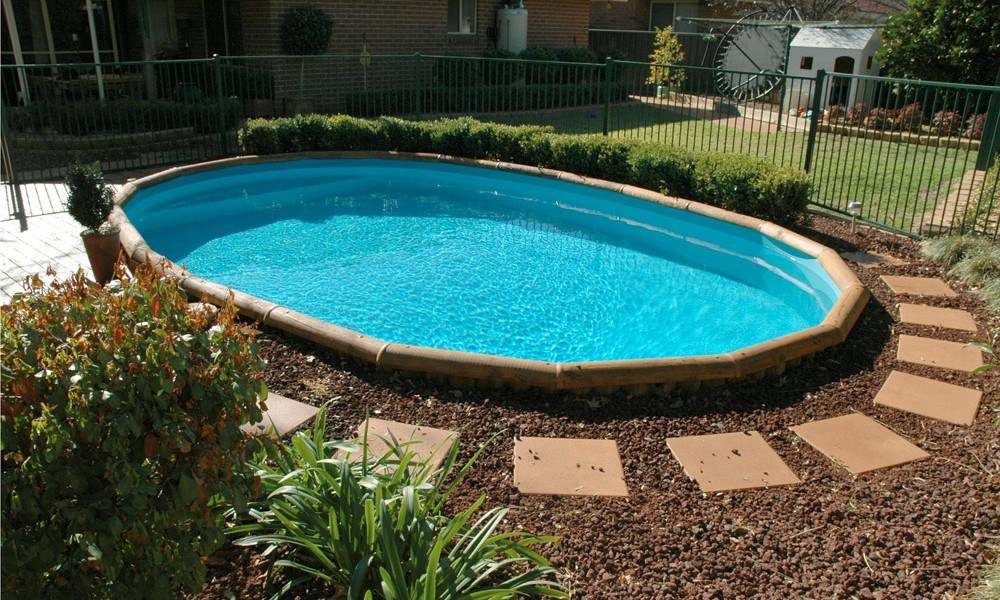 Above Ground Pool Gardening Ideas