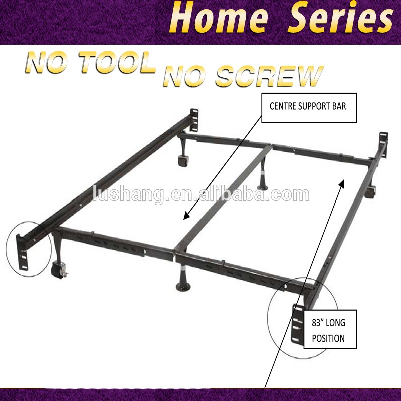 Adjustable Queen King Size Metal Bed Frame