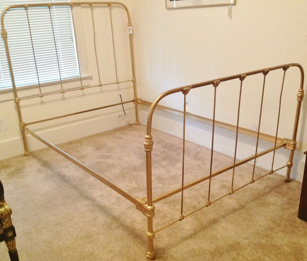 Antique Iron Bed Frame Ebay