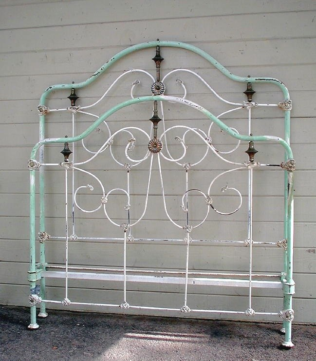 Antique Metal Bed Frame Queen