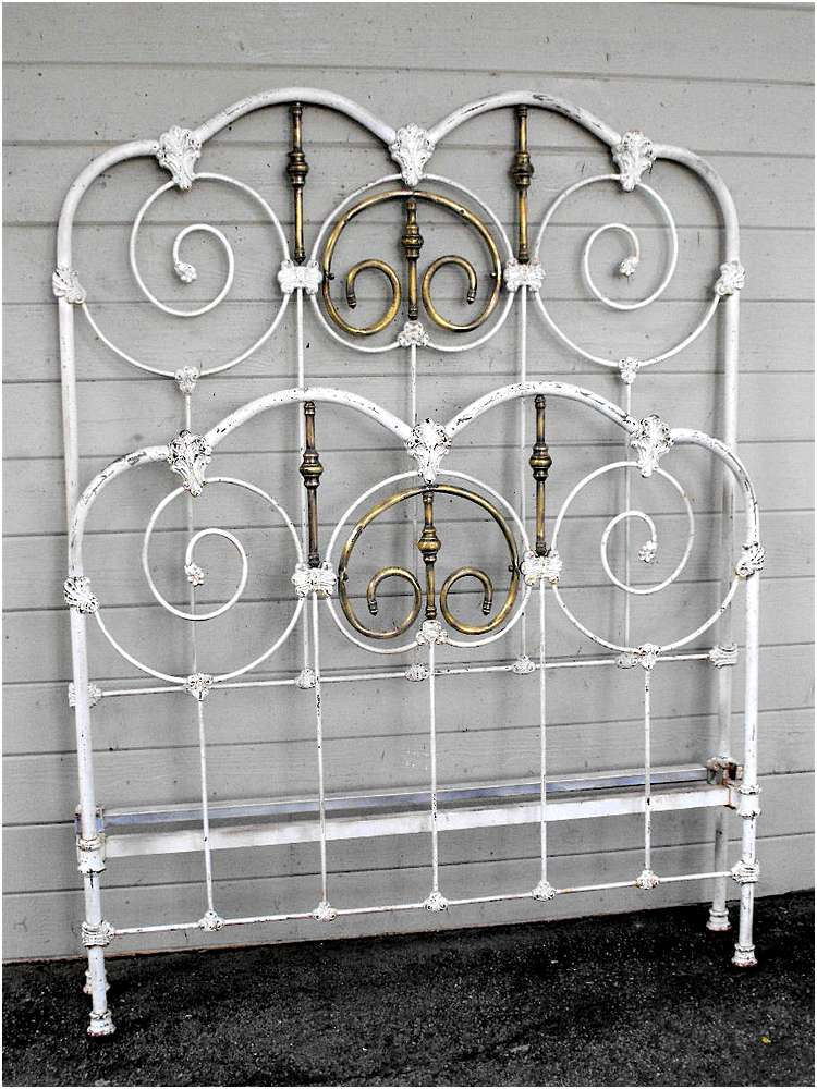 Antique Metal Bed Frame Rails